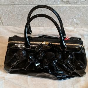fdb470c8017 Valentino Bags - New Valentino Black Patent 'Doctor Bag' with Roses
